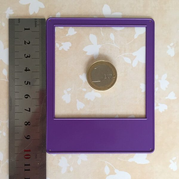 Troquel Polaroid tamaño